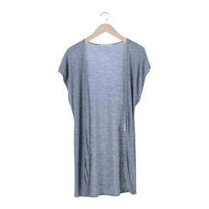 Viktoria & Woods Grey Short Sleeve Long Vest