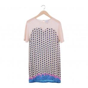 alex[a]lexa Peach Blue Blood Sheer Mini Dress