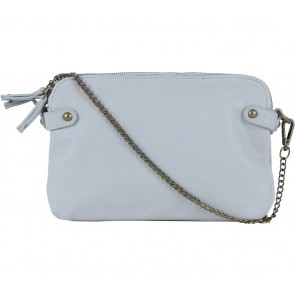 Silence + Noise Grey Multi Zipper Clutch