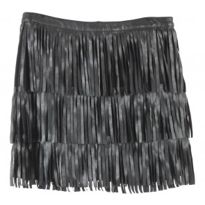 H&M Black Fringe Skirt