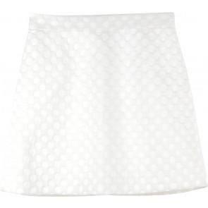 Topshop Cream Polka Dot Skirt