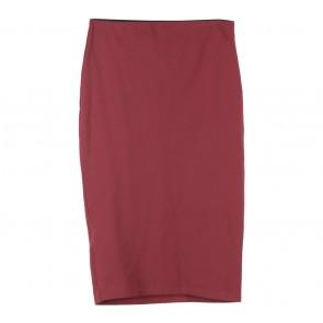 Zara Maroon Midi Skirt