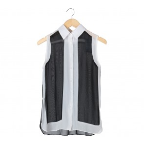 (X)SML Black And Off White Sleeveless