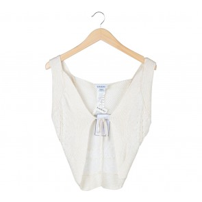 Bebe Cream Knit Vest