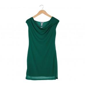 H&M Green Mini Dress
