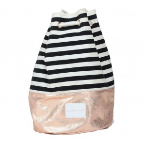 Victoria Secret Black And White Striped Backpack