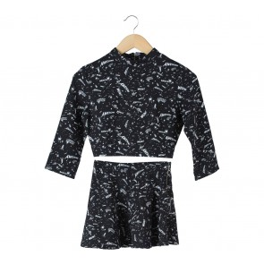 Bershka Black (Blouse & Skirt) Two Piece