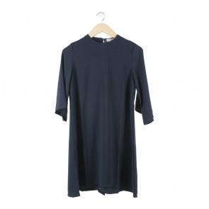 Cotton Ink Dark Blue Mini Dress