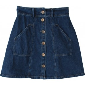Cotton Ink Dark Blue Mini Skirt