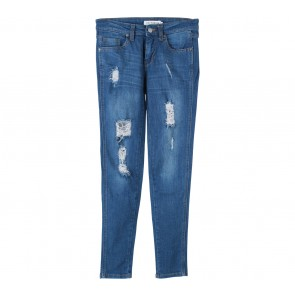 Cotton Ink Dark Blue Ripped Pants