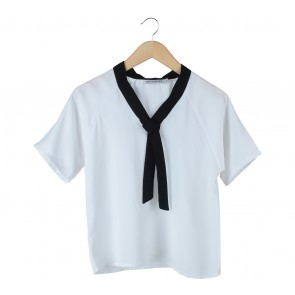 Cotton Ink White And Black Blouse