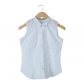 Cotton Ink White Shirt Sleeveless