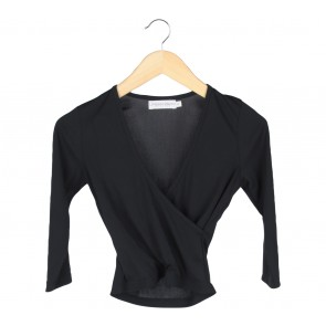 Urban & Co Black Wrap Blouse