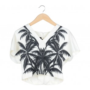 Pomelo. Black And Cream Blouse