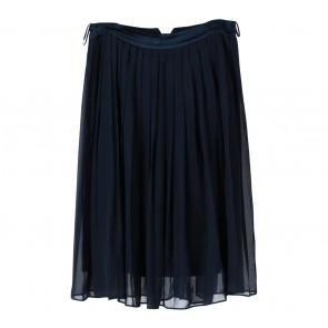H&M Blue Pleated Midi Skirt
