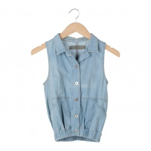 Zara Blue Washed Jeans Vest