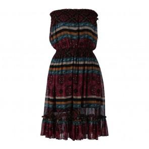 Forever 21 Multi Colour Tube Sleeveless Mini Dress