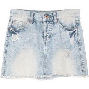 New Look Blue Ripped Short Skirt