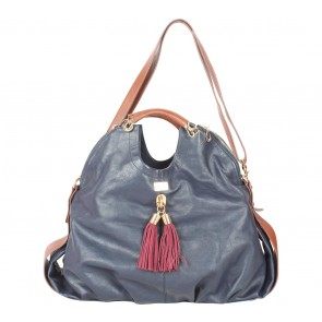 Paul´s Boutique Dark Blue And Brown Satchel