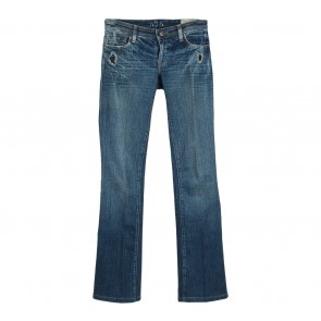 575 Denim Blue Ripped Bell Bottom Pants