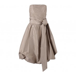 BCBG Light Brown Ballooney Bow Sleeveless Midi Dress