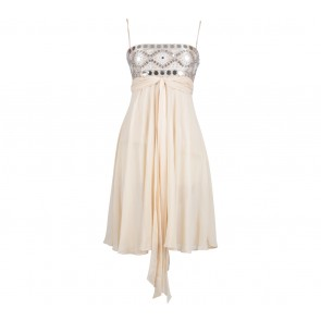 BCBG Max Azria Cream Sequin Mini Dress