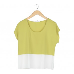 Forever 21 Green And White Blouse