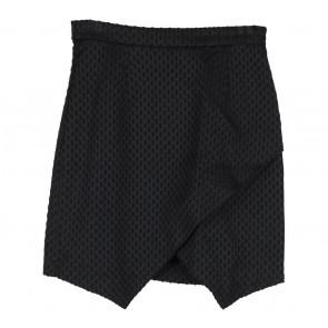H&M Black Textured Skirt