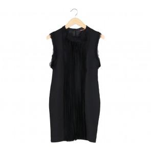 Roberto Cavalli Black Midi Dress