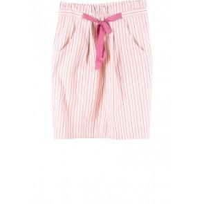Zara Pink And Cream Striped Skirt