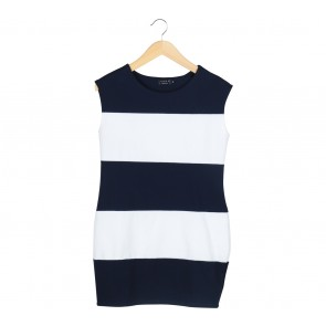 Ezra Blue And White Stripes Mini Dress