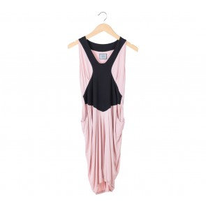 Saint and Sinner Pink And Black Pocket Mini Dress