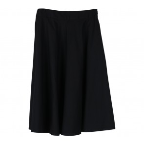 Cotton Ink Black Flare Skirt