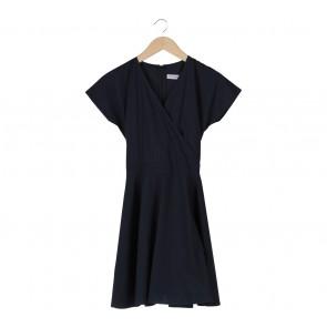Cotton Ink Blue Midi Dress