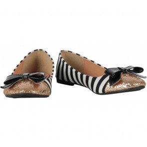 Ezra Multi Colour Striped Ribbon Flats