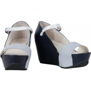 Staccato Dark Blue And Grey Wedges