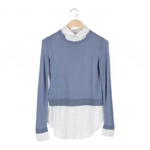 Ann Taylor Blue Knitwear Combi Shirt
