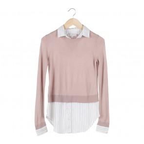 Ann Taylor Pink Knitwear Combi Shirt