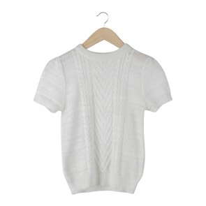 UNIQLO Off White Knit Blouse