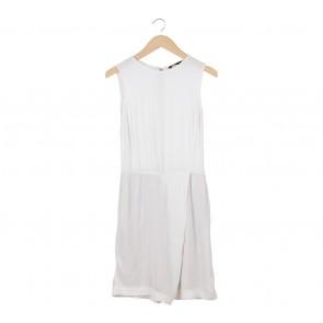 Zara White Sleeveless Jumpsuit