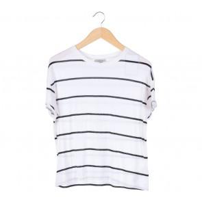 Zara White Stripes T-Shirt