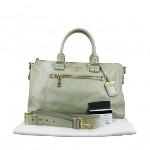 Prada Green Tote Bag