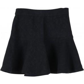 Zara Black Textured Flare Skirt