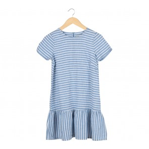 Attic + Willow Blue And White Striped Mini Dress