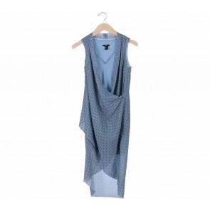 H&M Blue Layered Midi Dress