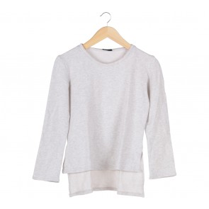 ATS The Label Cream Asymmetric Sweater