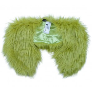 Divided Green Furry Scarf
