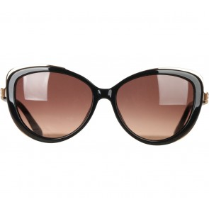 Emilio Pucci Black And Gold Sunglasses