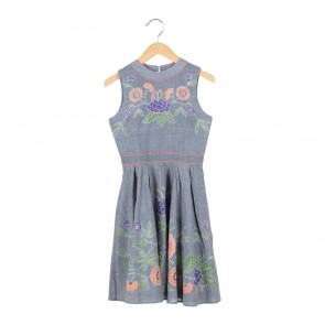 Putri Malu Grey Batik Mini Dress