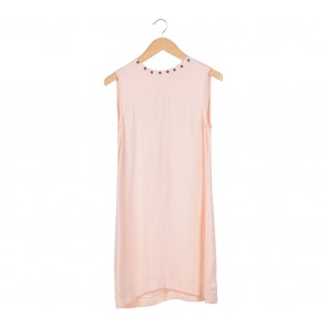 Zara Peach Studded Mini Dress